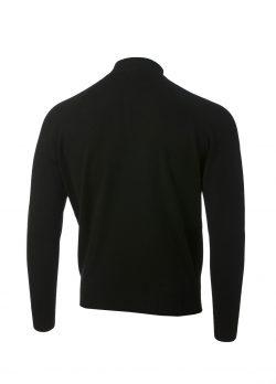 Glenbrae Merino Zip Contrast black rear view