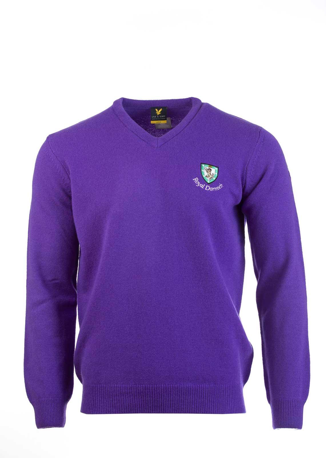 Lyle Amp Scott Classic V Neck Sweater Royal Dornoch Pro Shop