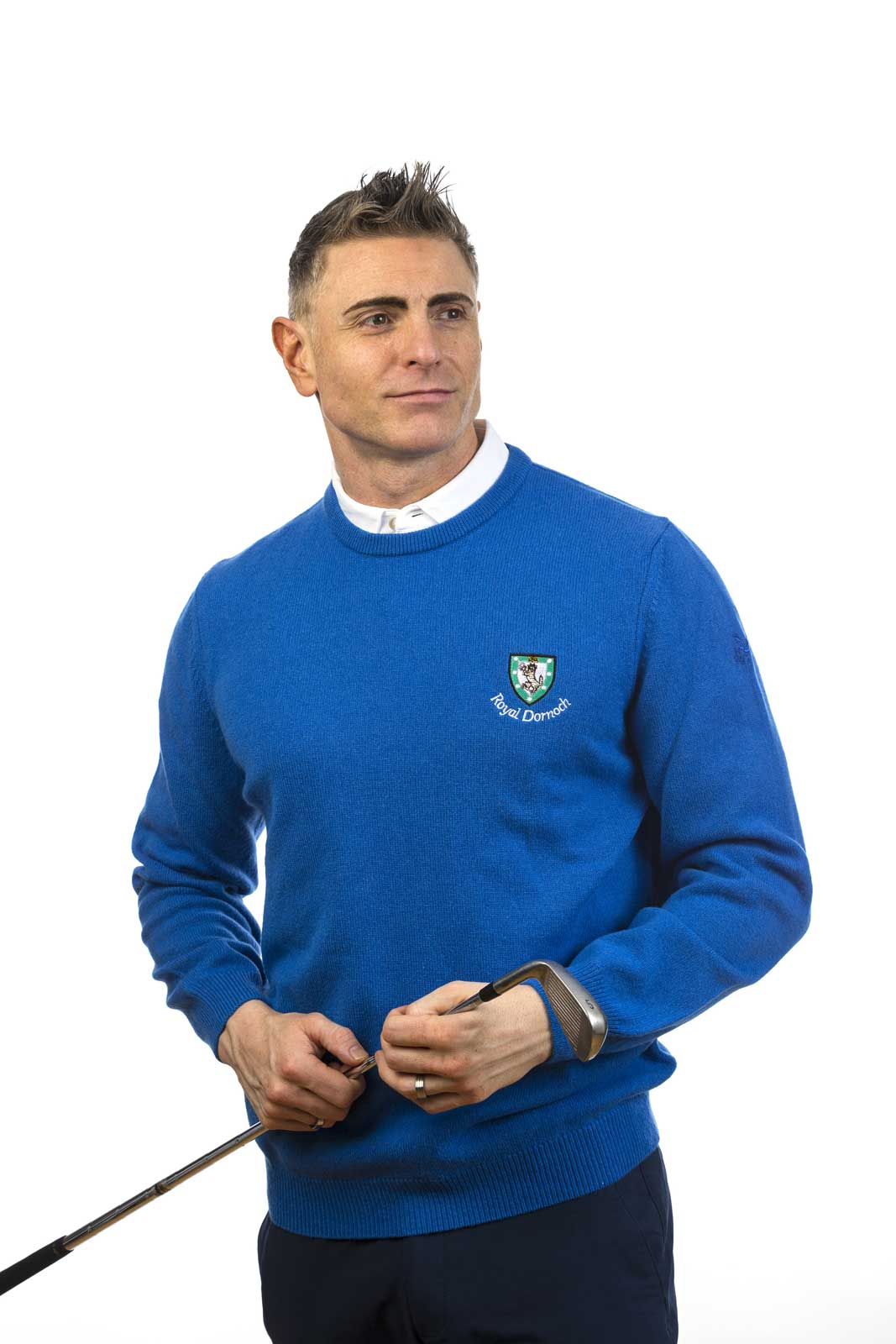 Lyle Amp Scott Classic Crew Neck Sweater Royal Dornoch Pro