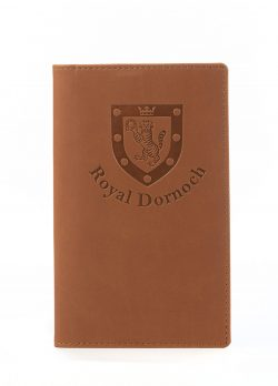 Light brown scorecard holder