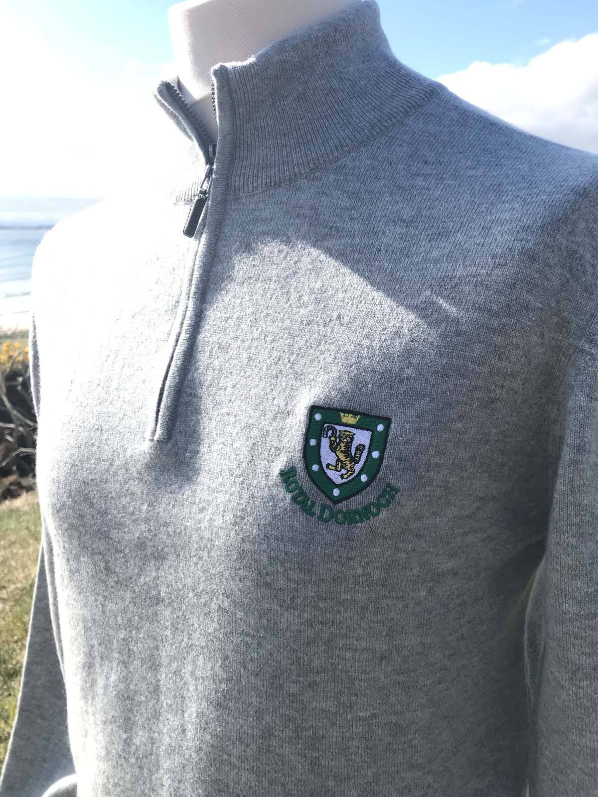 100 Cashmere Zip Neck Sweater Royal Dornoch Pro Shop